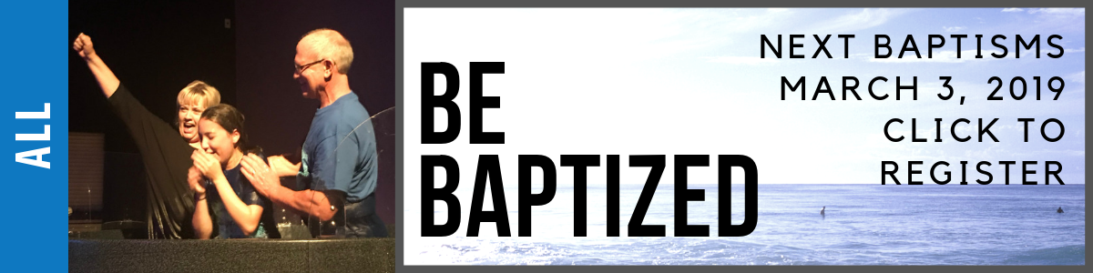 Be Baptized March 03 2019