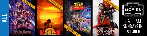 At The Movies - Sundays October 2019